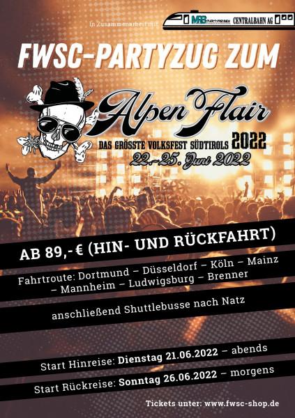 FWSC-Sonderzug zum Alpen Flair 2022, 21.06.-26.06.2022 (für NICHTMITGLIEDER)